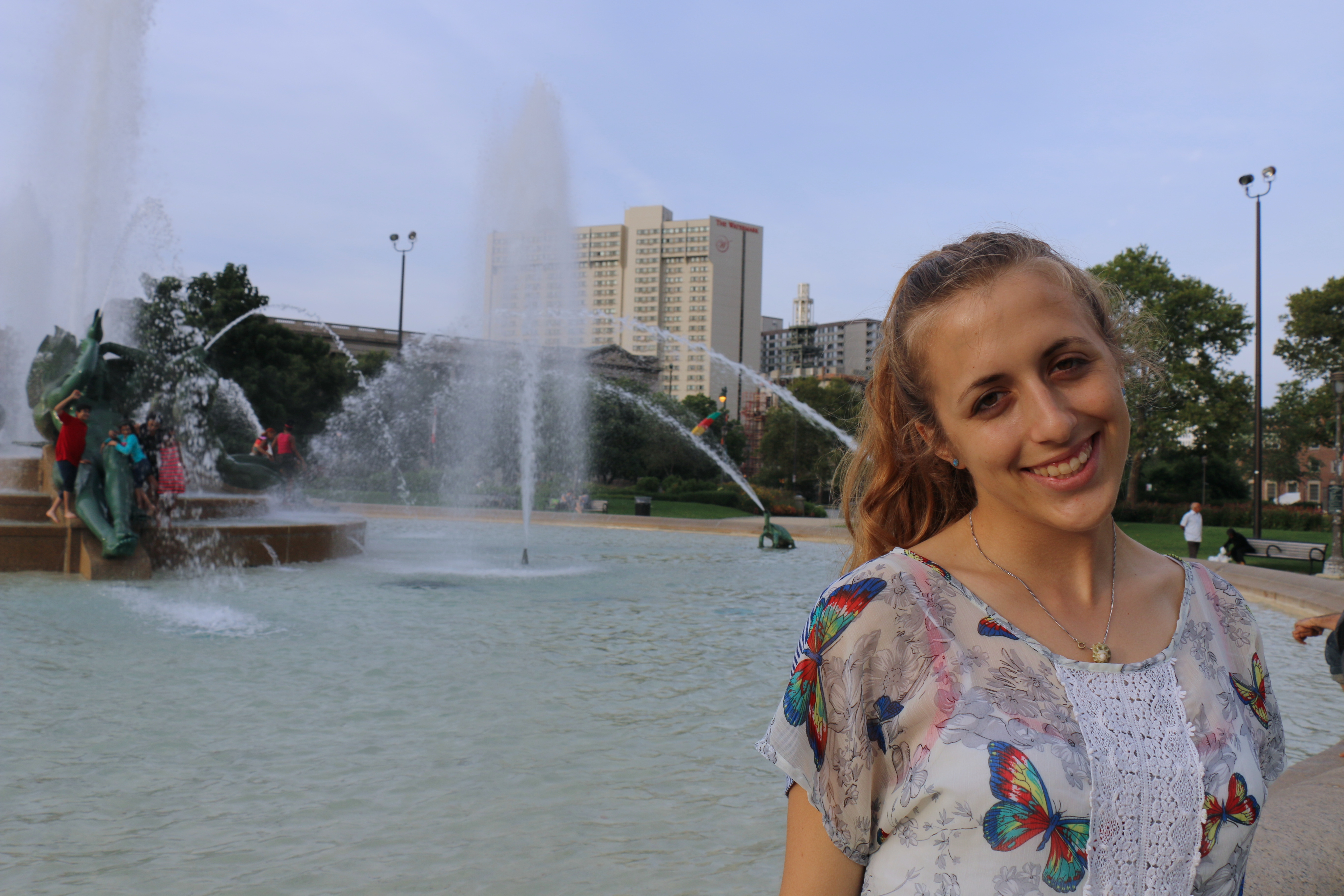 Isa Betancourt - Entomologist | In front of Swann Fountain, the site of her insect study.